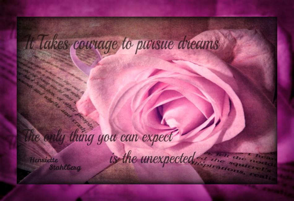 """""""Det krävs mod att fullfölja drömmar"""""""